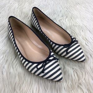 J.Crew Striped Pointed Toe Flats